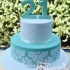 Two Tier Designed Cake - Amarantos Designer Cakes Melbourne