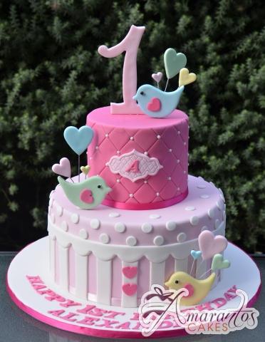 Baby Bird Two tier Cake - Amarantos Designer Cakes Melbourne