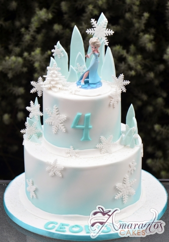 Two Tier Frozen Cake Ac323 Amarantos Celebration Cakes