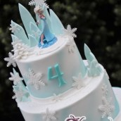 Frozen 3 Tier Cake - Amarantos Designer Cakes Melbourne