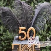 Great Gatsby 50th Birthday Cake - Amarantos Cakes Melbourne