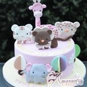 Baby Animals Birthday Cake - Amarantos Cakes Melbourne
