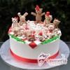Teddy Bears Tea Party Birthday Cake - Amarantos Cakes Melbourne
