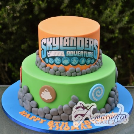 Two tier Skylander Cake – AC386