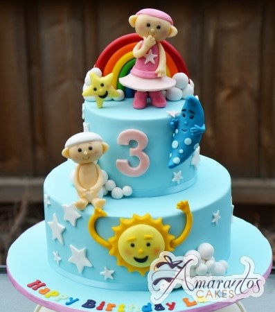Two tier Cloud Babies Cake – AC405