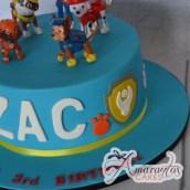 Round Paw Patrol Cake - Amarantos Designer Cakes Melbourne