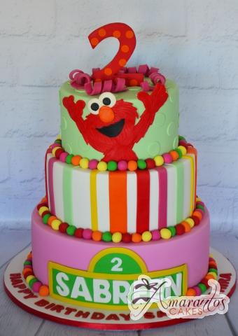 Three Tier Sesame Street Cake - Amarantos Designer Cakes Melbourne