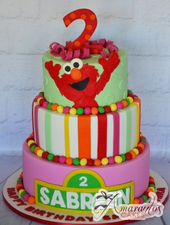 Three tier Sesame Street Cake – AC444