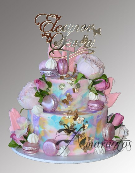 Two tier butterfly cake AC479