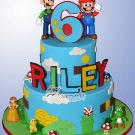 Two tier Super Mario Cake – AC501