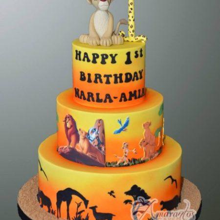 Three tier Lion King Cake – AC504