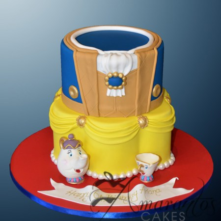 Two tier Beauty & The Beast Cake – AC506