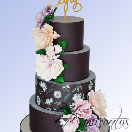 Four Tier Floral Design Cake- AC522