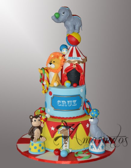 AC540 Two tier Circus cake