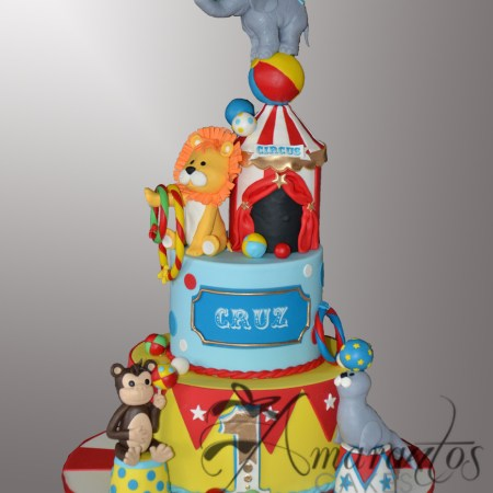 Two tier Circus cake- AC540