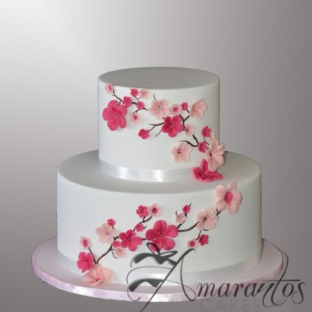 Two tier with Cherry Blossoms – AC543