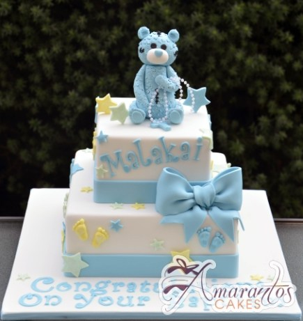 Two Tier with Teddy Cake - Amarantos Custom Made Cakes Melbourne