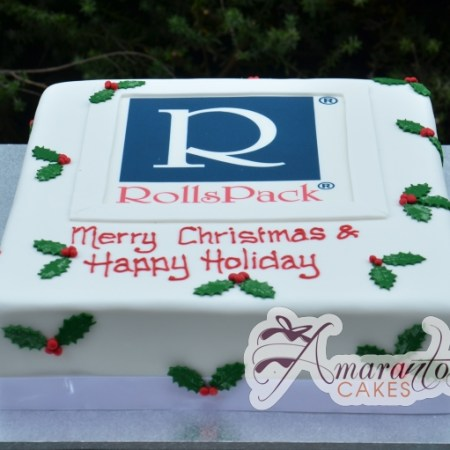 Christmas Corporate logo cake- CH12