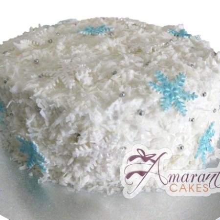 Snowflake Cake - Amarantos Designer Cakes Melbourne