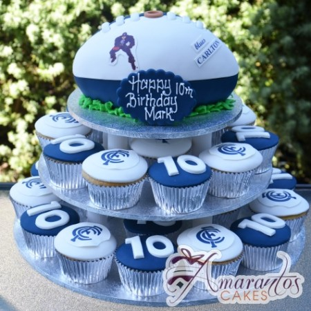 Footy Cup Cake Tower- CT12