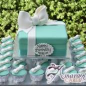 Tiffany Cup Cake Tower - Amarantos Designer Cakes Melbourne