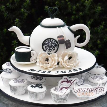 Tea Pot Cup Cake Tower- CT26
