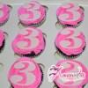Number Cup Cakes One Dozen - Amarantos Designer Cakes Melbourne