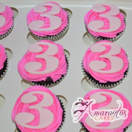 Number Cup Cakes One Dozen – CU18