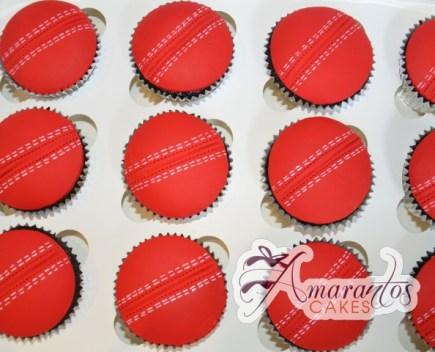 Cricket Cup Cakes - Amarantos Designer Cakes Melbourne
