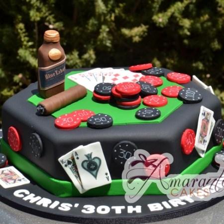 Casino themed cake- NC10