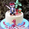 Base with Pirate Jake Cake - Amarantos Custom Made Cakes Melbourne