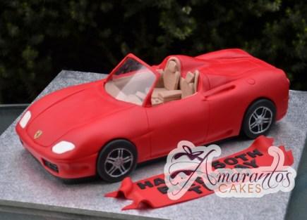 3D ferrari cake - Amarantos Designer Cakes Melbourne