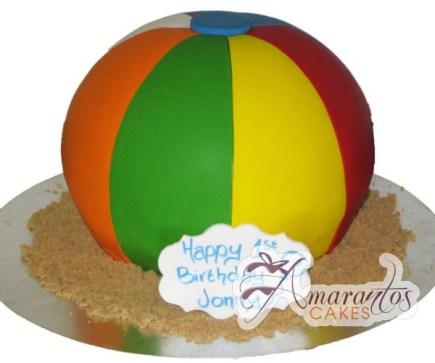 3D Beach ball - NC246 - Birthday Cakes Melbourne