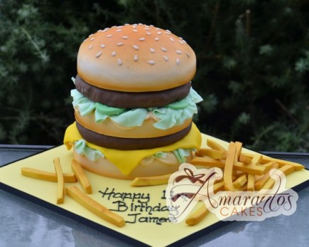 Burger with Fries- NC247 1