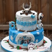 Frozen Two Tier Cake - Amarantos Designer Cakes Melbourne