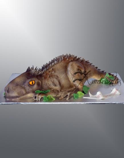 NC306 3D T Rex dinosaur cake