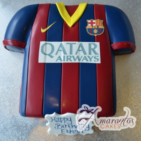 Soccer Football Jersey Cake - Amarantos Cakes Melbourne