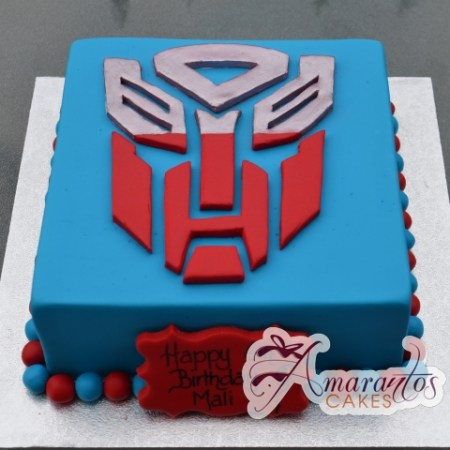 Square with Logo Birthday Cake - Amarantos Cakes Melbourne