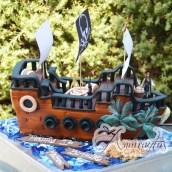 3D Pirate Ship- Amarantos Cakes Melbourne