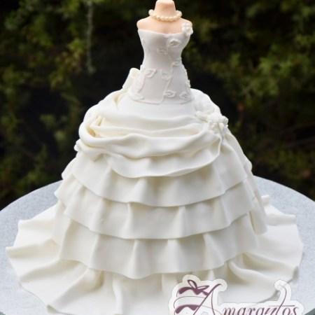 Wedding Gown Cake – NC398