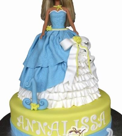 Princess Barbie on base cake- NC424