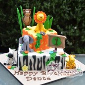 Two Tier Jungle Themed Cake - Amarantos Designer Cakes Melbourne
