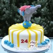 Circus cake with Elephant - Amarantos Cakes Melbourne