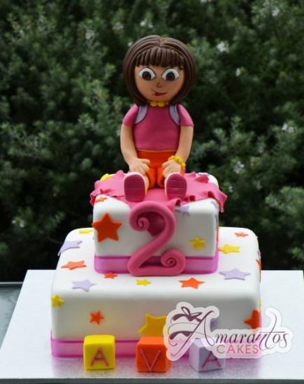 Two tier Dora Cake- NC478 1