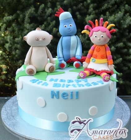 Base With Night Garden Characters Cake - Amarantos Designer Cakes Melbourne