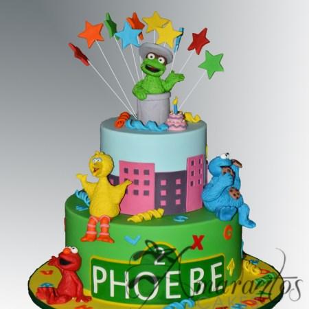 Two tier Sesame Street Cake- NC524