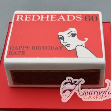 Redhead Match box cake – NC526