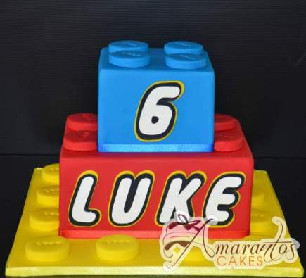 Lego Blocks Cake - Amarantos Designer Cakes Melbourne