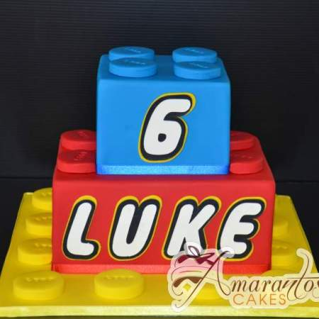 Two tier Lego Blocks Cake- NC558
