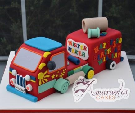 3D Mister Maker Truck Cake - Amarantos Custom Design Cakes Melbourne